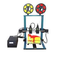 D3 3D Printer impressora 3d Two Color and Dual Nozzle with 300 x 300 x 400mm Platform and Dual Extruder Digital 3D Printing