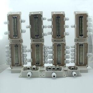 Image 5 - ABS Wasserdichte Anschlussdose Verbindung Outdoor Indoor Verteilung Überwachung Box Elektrische Gehäuse Fall Mit Kabel Drüsen