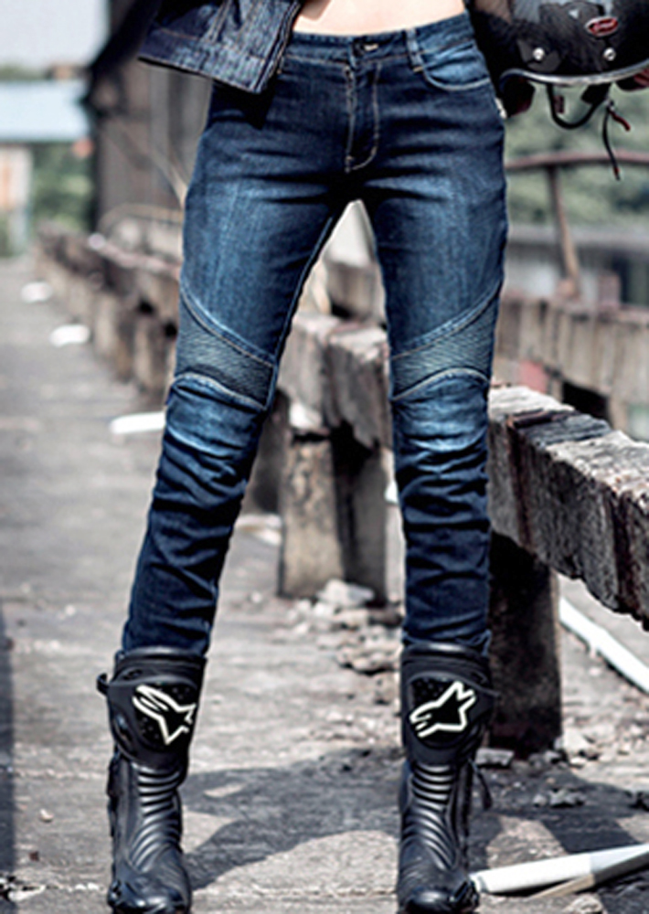 UglyBROS 03 tissu anti-feu à l'intérieur des jeans moto locomotive moto protection des genoux pantalons femmes équitation jeans tulipes droites