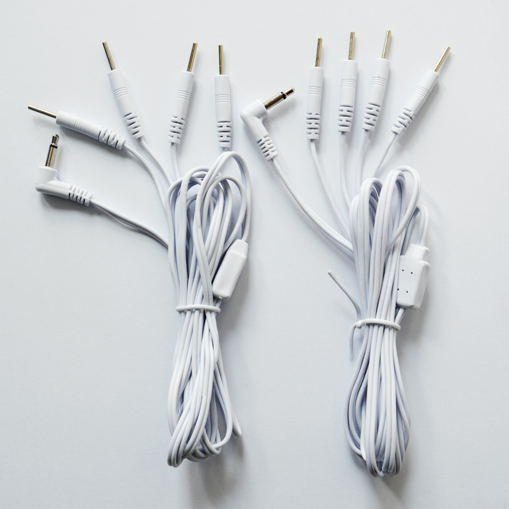 2 חלקים החלפת ג 'ק DC ראש 3.5mm חוט חשמל חוט חשמל מחבר כבלים לחבר מכונת פיזיוטרפיה או יחידת עשרות