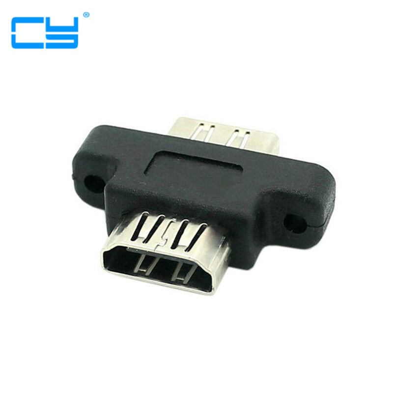 1pcs Screw Lock Panel Mount Hdmi Type A Female To Female