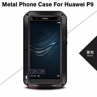 Huawei P9 P9 Lite Case Original LOVE MEI Shockproof Dirtproof Waterproof Metal Phone Cover Case With