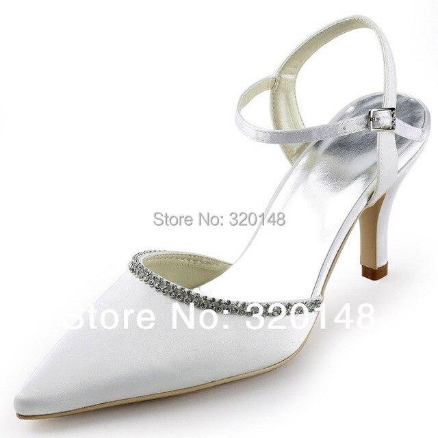 712e74779 New Fashion EP11115 White Pointed Toe Slingback Sandals 3