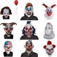 X-MERRY Spielzeug 2017 Neue Stil ES Pennywise Clown Maske Jingle Jangle Scary Böse Narr Clown Vollgesichts Halloween Horror Latex masken