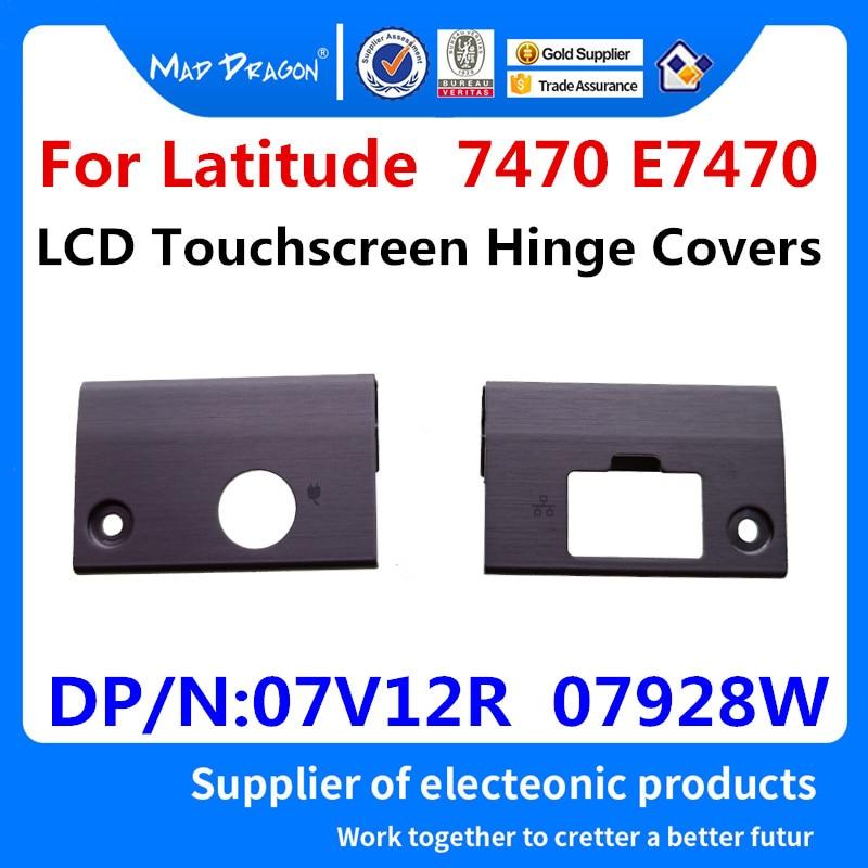 Фирменный Сенсорный ЖК-экран для ноутбука MAD DRAGON, фонарь с петлями для Dell Latitude 7470, E7470, 7V12R, 07V12R, 7928 Вт, 07928 Вт