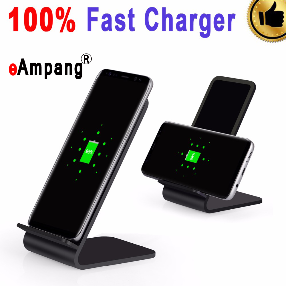 eAmpang Phone Stand Holder for Samsung Galaxy S6 S7 Edge Plus S8 S8+ Note 5 7 with Fast wireless charger Function