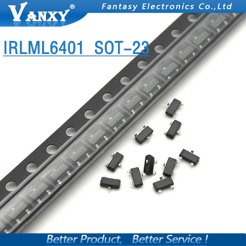 20PCS IRLML6401TRPBF SOT23 IRLML6401TR SOT IRLML6401 SOT-23 SMD New And Original IC Free Shippin