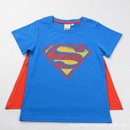 2016 новый супермен майка любители одежда мальчика и девушки свободного покроя бэтмен о шея с коротким рукавом футболки для хлопка малышей тис, C084