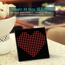 2017 Newest Fashion Bluetooth speaker led display Creatived DIYwireless speaker for smartphone with clock alarm clock