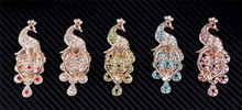 Newest Luxury Diamonds Peacock Metal Mobile Phone Ring Holder Universal Finger Grip Phone Stand for Mobile iPad Tablet