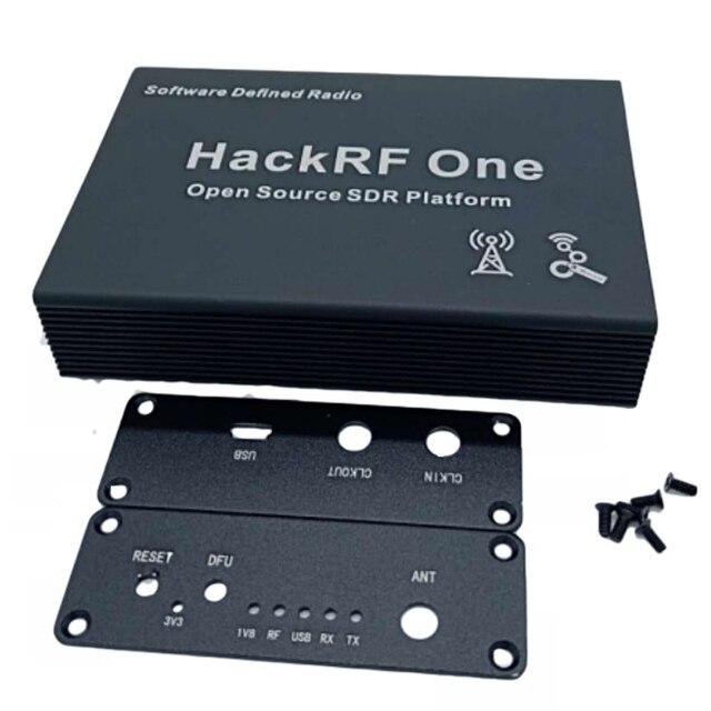 Boîtier en aluminium noir coque de protection USB usage commun pour HackRF One