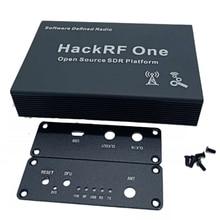 Gabinete de alumínio preto capa caso escudo usb uso comum para hackrf um