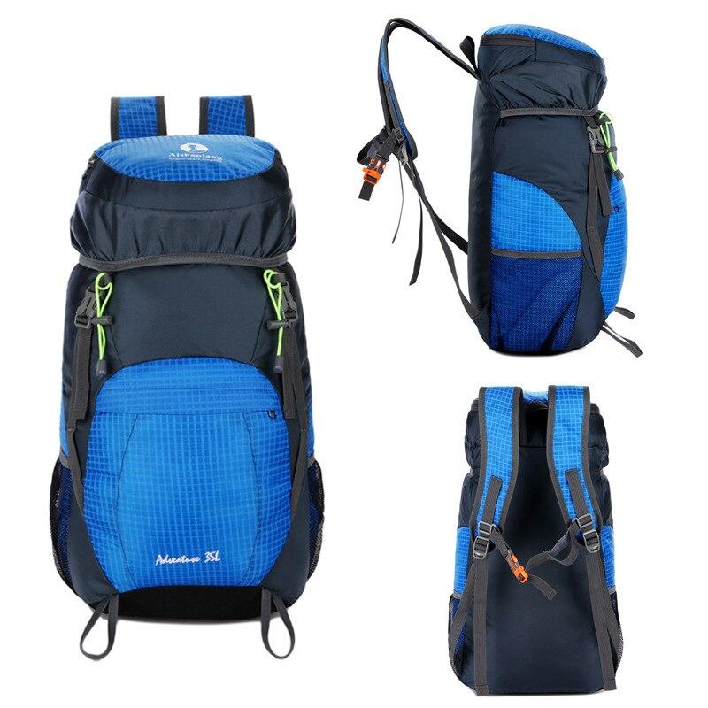 Può Donne blue Impermeabile Sport green Borse Zaino Alpinismo Uomini Nylon red Aperta Black Pieghevole Capacità Xa690wd 35l Campeggio Trekking All'aria TXExwq40O0