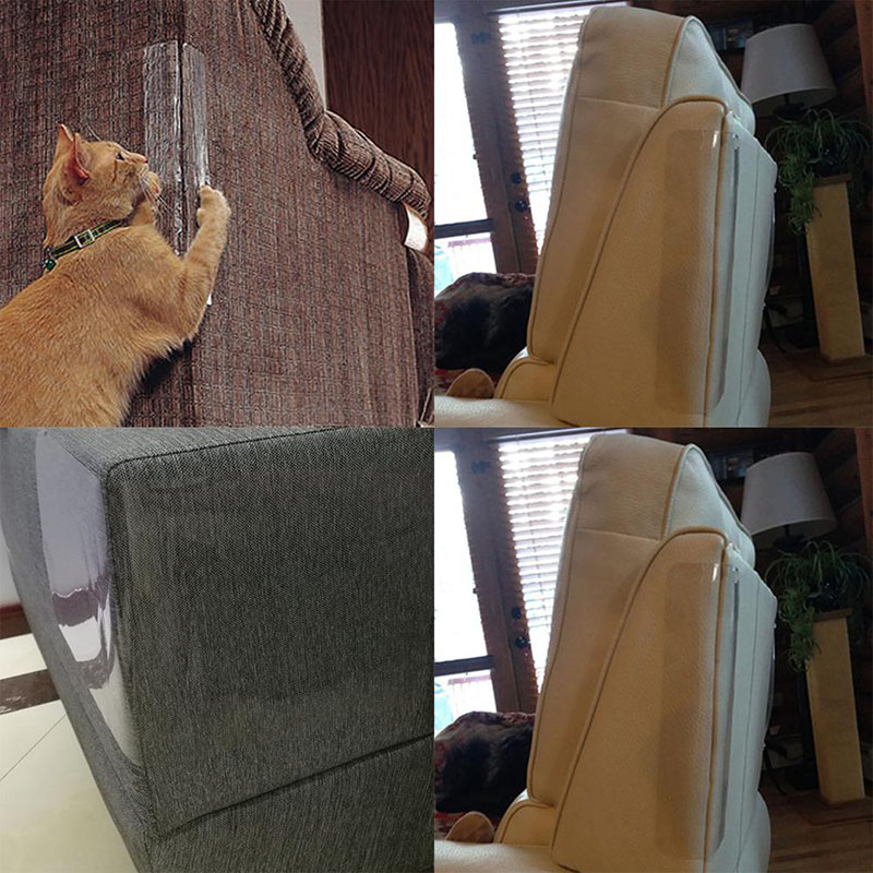 Sofa Cat Claw Protection Pad Transparent Furnitur Cat Scratching Protector Clawing Gatos Cats Furniture Protective Cover