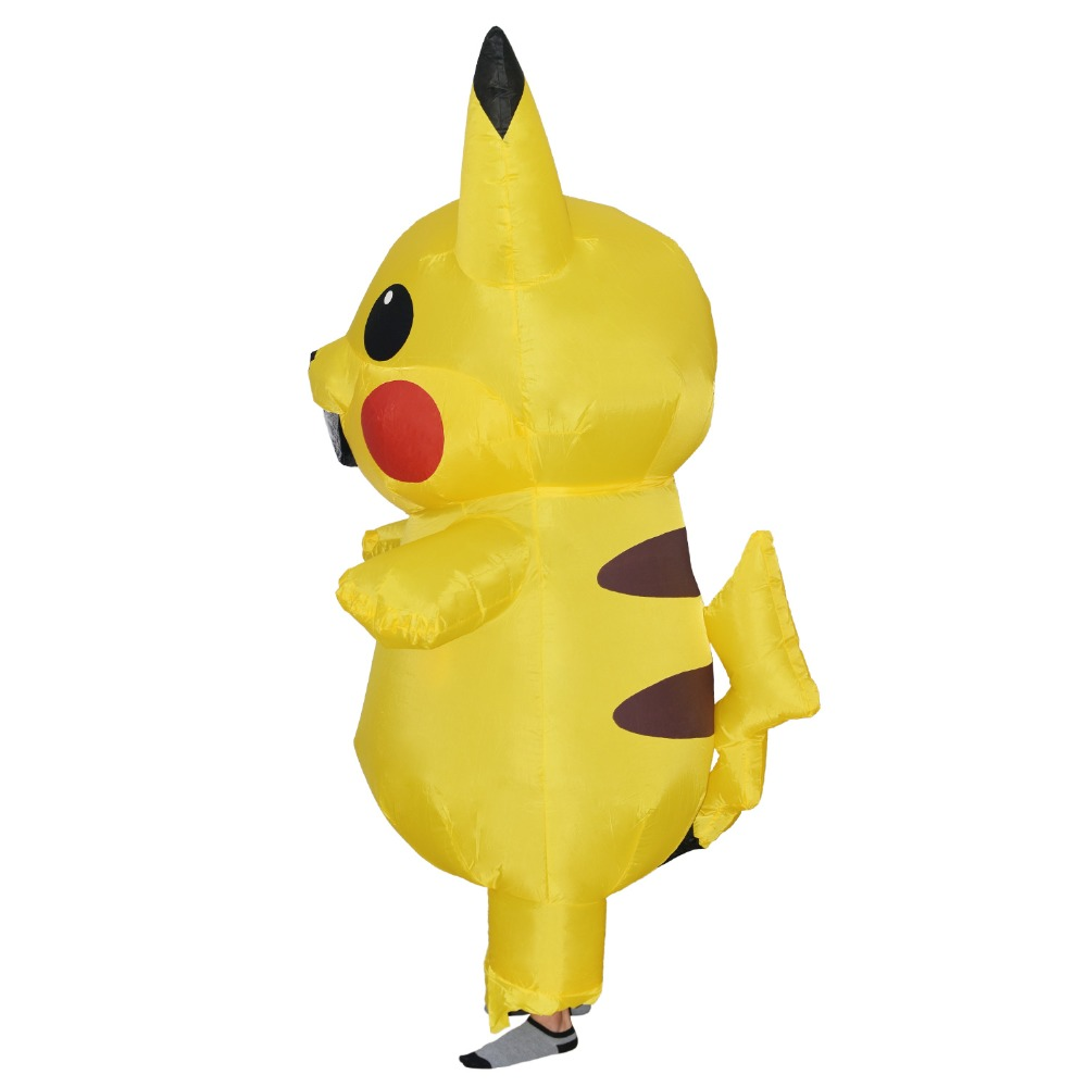JYZCOS Inflatable Pikachu Costumes Halloween Party Cosplay Costumes Carnival Pokemon Mascot Costume for Kids Adults Men Women