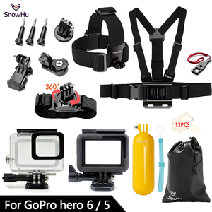 Image 2 - SnowHu for Gopro Accessories Set For Gopro hero 7 6 5 Waterproof case Protection Frame monopod for Go pro hero 7 6 5 GS73