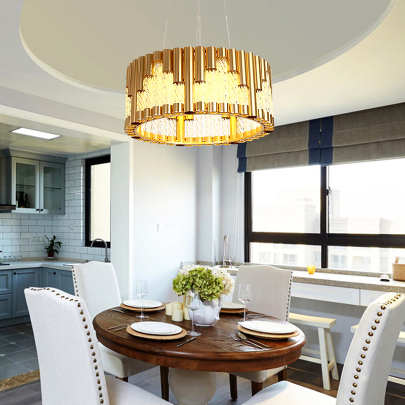 Nordic Lamps Restaurant Lights Iron pendant lamp Golden Creative Modern Minimalist Glass Dining Room Home Dining Light lamps new crystal pendant lights nordic european style living room restaurant bedroom modern minimalist american country iron