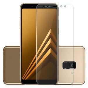 Image 3 - 9 H de Vidro Temperado Para Samsung Galaxy A8 2018 Temperado Tela de Vidro Para Samsung Galaxy A8 2018 A530 A530f SM a530F protetor Flim