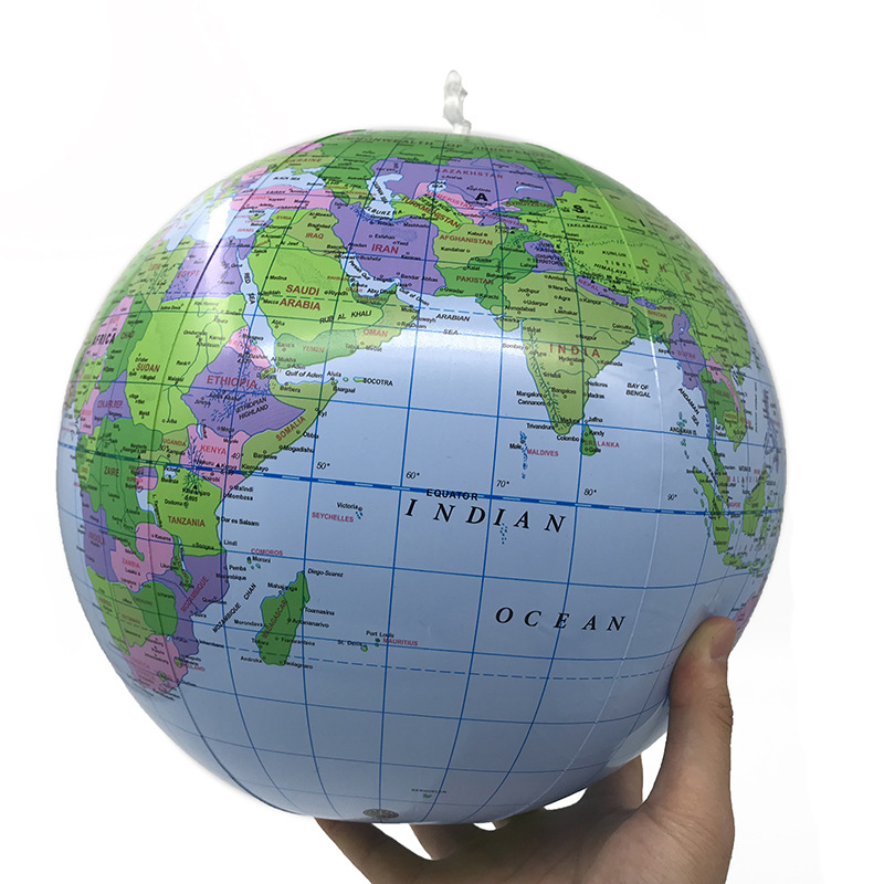 30cm Inflatable Globe Globe World Earth Ocean Map Ball Balloon Educational Toys For Chilren Teaching Aids Soft Safe