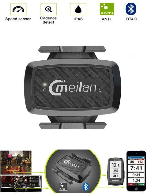 Fahrrad zubehör Bike Cadence Tacho sensor Radfahren Bluetooth 4,0 ANT indoor Spinning kadenz ausbildung Meilan C1