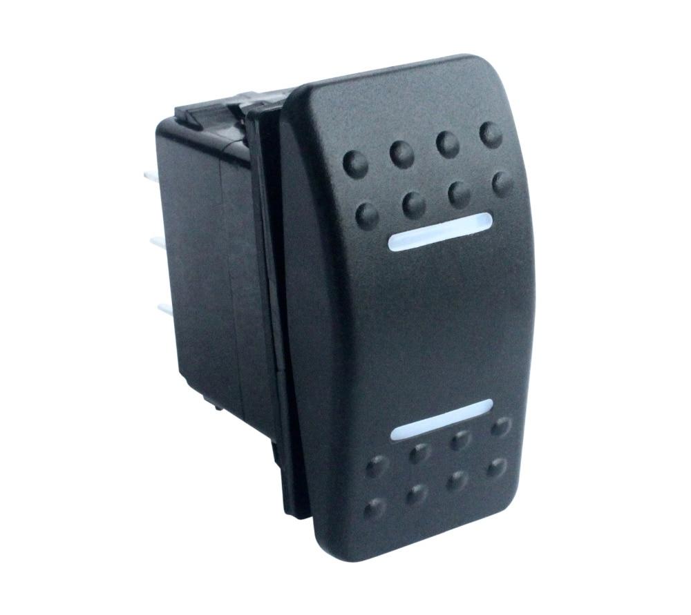Diodo emissor de luz branco 7 pinos momentâneos de ligar/desligar/momentâneo no interruptor de balancim dpdt para a categoria marinha 12 v 24 v da substituição do estilo de narva arb carling