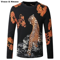 Chinese style whistling tiger personality printing quality men sweater 2016 Autumn&Winter new fashion pullover sweater men M-4XL