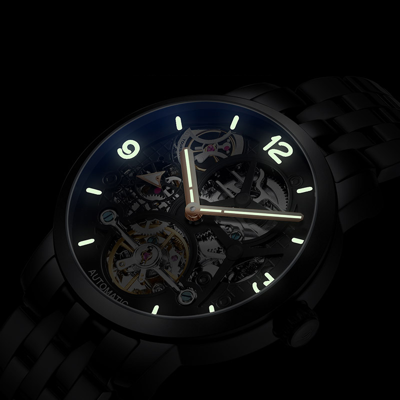 AILANG time luxury brand watches the best automatic mechanical watch men full steel business sport waterproof watches Male watch - 4