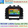 1024*600 4 Quad Core 1.6G Android 5.1.1 for Vauxhall Opel Astra J Buick Verano 2010 2011 2012 2013 2014 Car DVD GPS Radio Stereo