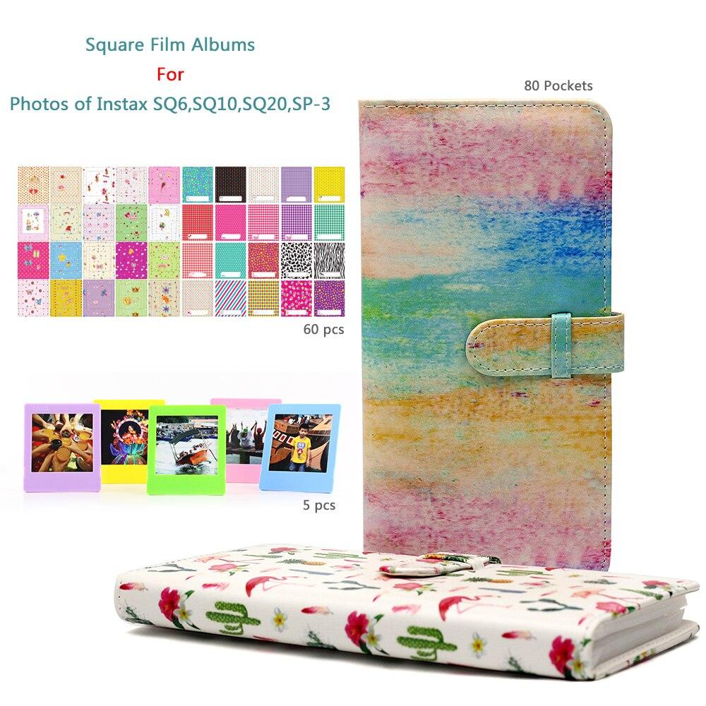 CAIUL carré film album pour Fujifilm instax carré SQ6 SQ10 SQ20 SP-3 film avec frontière autocollants et de bureau film cadres.