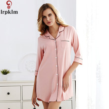 Cotton Female Teenage Girl Lounge Plus Size Sleepshirts Brand Nightgown For Women
