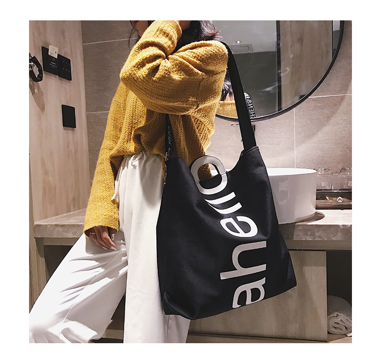 HTB1CMi6XjLuK1Rjy0Fhq6xpdFXaE - New Large-capacity Velvet Handbag Fashion Lady Letter Shoulder Crossbody Bag High Quality Women's Shopping Bag Tote