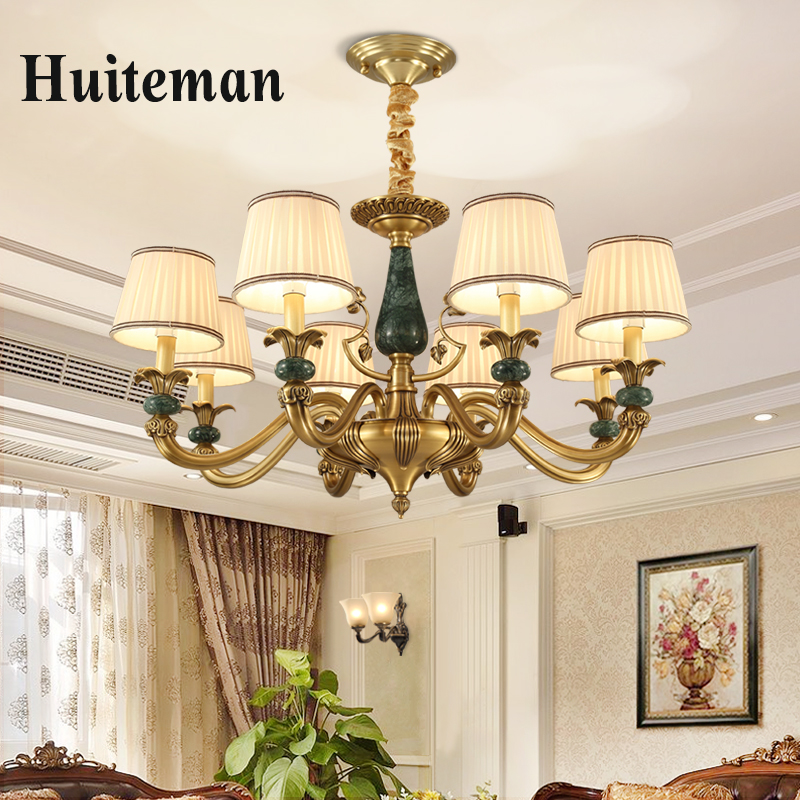 Led Modern Chandeliers For Kitchen Light Fixtures Home: New Modern Bronze Copper Chandelier Led E14 For Bedroom