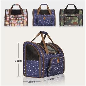 Image 3 - Luxury Canvas Dog Carrier Backpack Bag Shoulder Handbag Pet Little Medium Animal Travel Outdoor Transport Portable Tote Cat Good