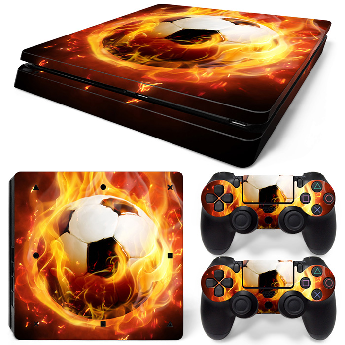Free Drop Shipping for PS4 Slim Skin Sticker Decals Designed for PlayStation4 Slim Console and 2 controller skins #football20506