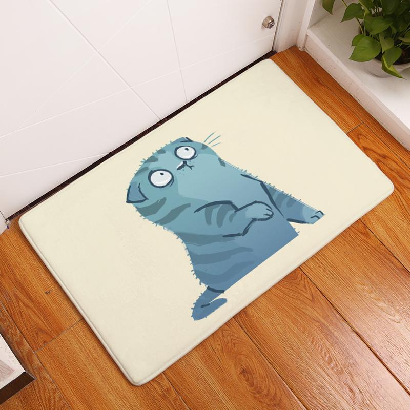 605ecfc8de63 Cartoon Flannel Carpet Cats Printing Mat For Living Room 40x60cm 50X80cm  Door mat Rectangle Tapete - us138