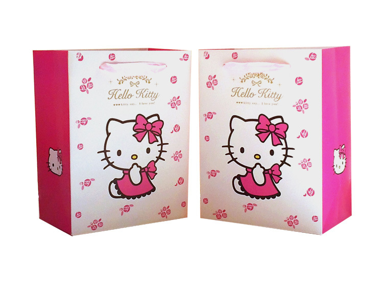 07b86fb4807e Hello Kitty cartoon Gift bag paper bag package for present packing for girls  kid-in Shopping Bags from Luggage   Bags on Aliexpress.com