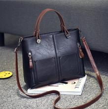 Women leather handbags women bag the new spring and summer bags manufacturers wax leather fashion bags Handbag