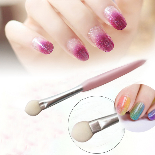 1pcs brand dotting tool nail art changing color tools sponge 1pcs brand dotting tool nail art changing color tools sponge acrylic powder liquid uv gel spoon prinsesfo Gallery