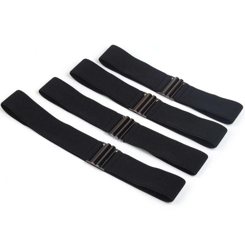 Women's Stretch Buckle Waist   Belt   for women Leisure black Elastic Corset Waistband ceintures harajuku plus size   belts   Girls