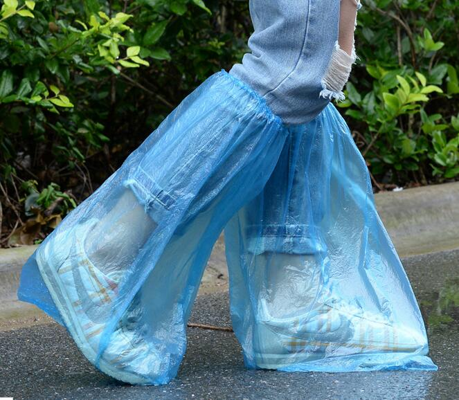 12 PAIRS/SET Rain Waterproof Shoes Cover Tall Disposable Shoe Covers Outdoor Storage Bags Anti-slip