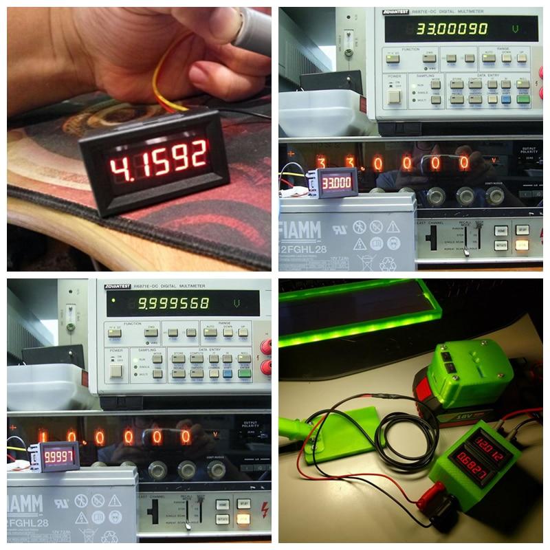 5 Digit DC 0-4.3000-33.000V Digital Blue LED Voltmeter Voltage Meter Car Panel