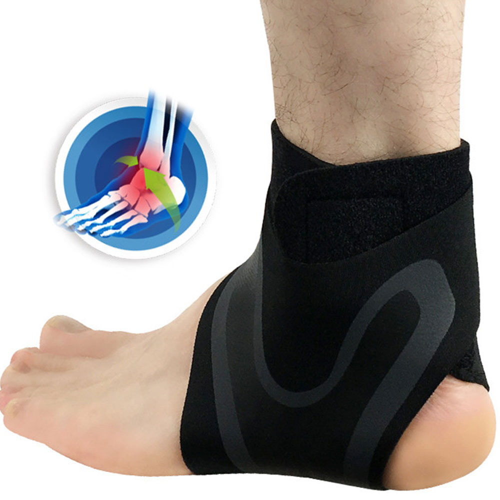 Tcare 1Pcs Ankle Brace Compression Support Stabilizer - Adjustable Prevent Sprains Injuries Breathable Neoprene For SPORTS
