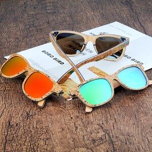 Image 5 - BOBO BIRD Sunglasses Women Colorful Frame Polarized Fashionable Vintage Wooden Glasses For Gift oculos de sol feminino AG021