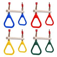 Toy Wooden Swing-Toy Hand-Rings Children-Supplies Plastic Outdoor Kids Fitness Gift Sports