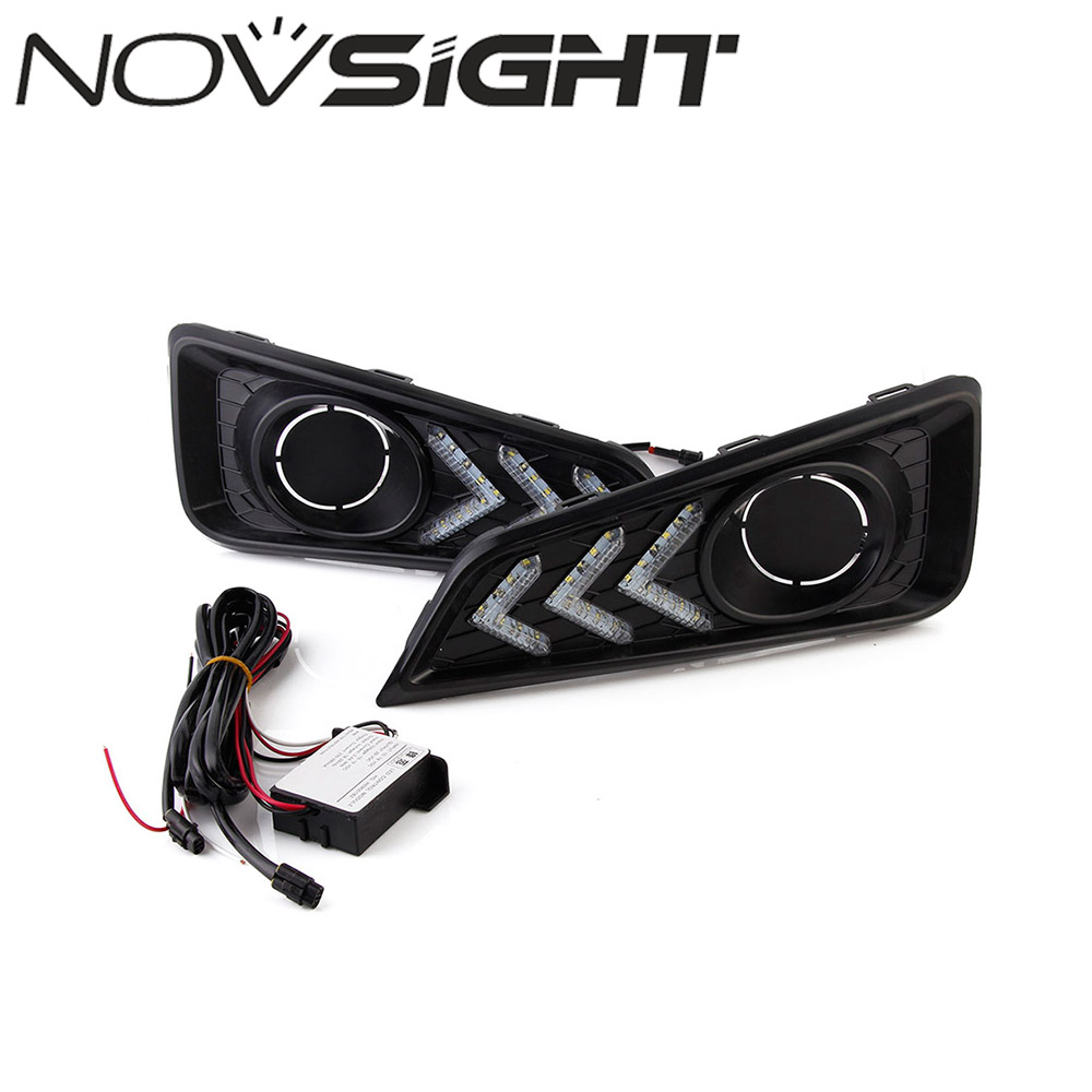 NOVSIGHT New Car LED DRL Daytime Running Lights Driving Lamp Daylight 12V For Honda City 2015-2017 Free Shipping пименова т ред дисней принцессы история любви кн с