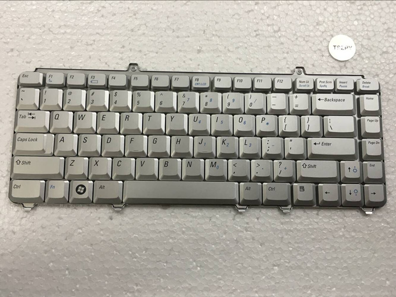 New Us Laptop Keyboard  For Dell Inspiron 1400 1520 1521 1525 1526  Service US Version SILVER FREE SHIPPING