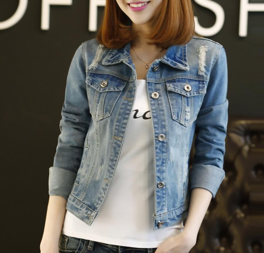 women plus size cropped jean jacket light blue bomber