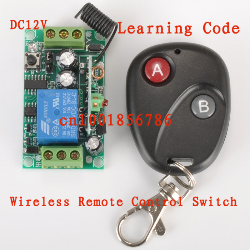 12V 1ch RF Wireless Remote Control Switch System Receivers & Transmitter Learning Code 315mhz/433mhz z-wave free shipping learning code 315mhz dc12v 10a 4ch wireless remote control switch system rf remote control light lamps 433mhz page 8