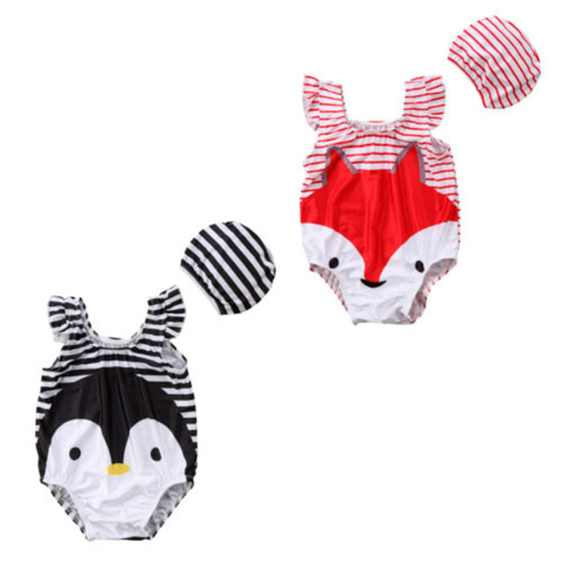 100% Quality Cute Kids Baby Girl Clothes Tankini Cartoon Fly Sleeve Swimwear Swimsuit Bathing Suit Beachwear Lovely Clothing Moderate Cost