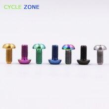 Высокое качество M5x12mm титановый Ti держатель болтов для бутылки велосипеда T25 M5* 12 мм Клетка для бутылки с водой Винт
